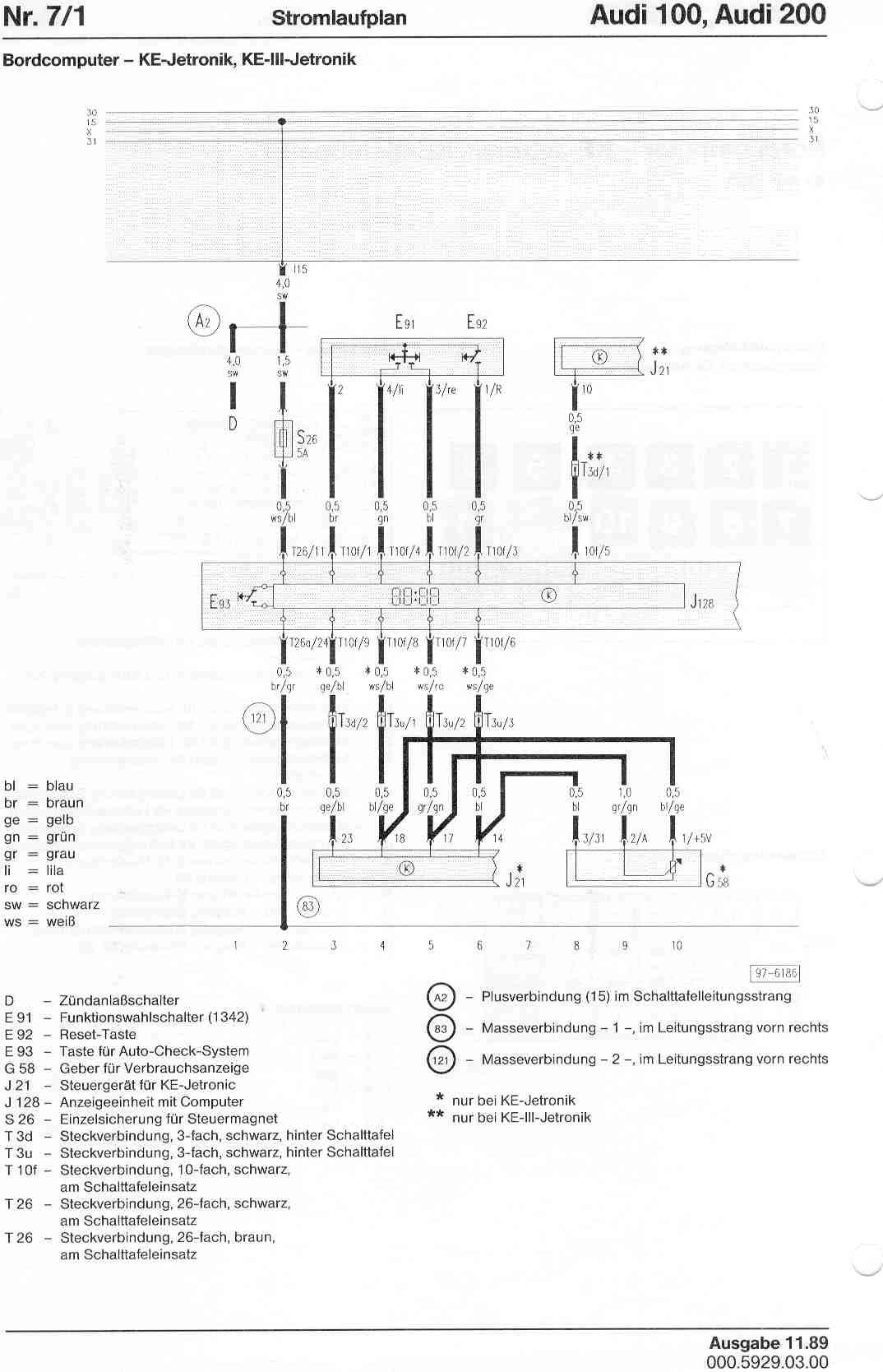 audi 200 wiring diagram