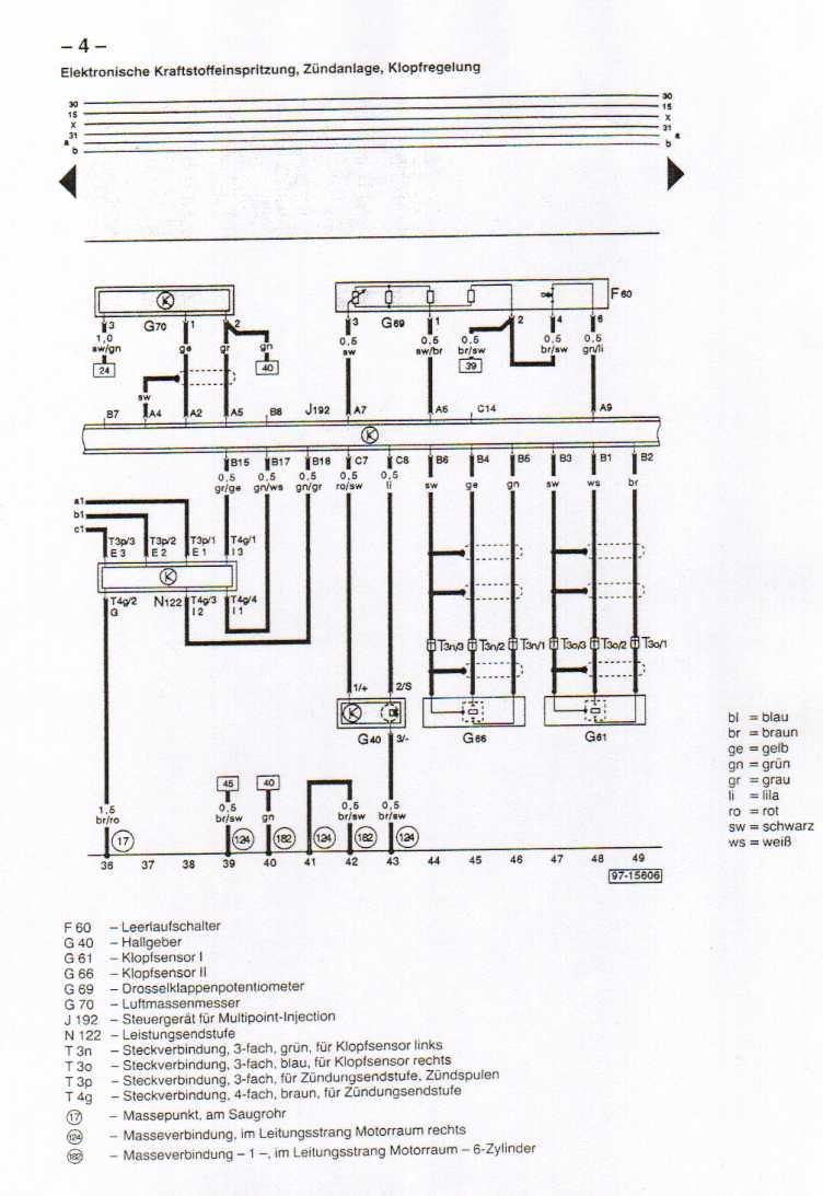 Diagram Audi 80 B4 Schaltplan Tacho