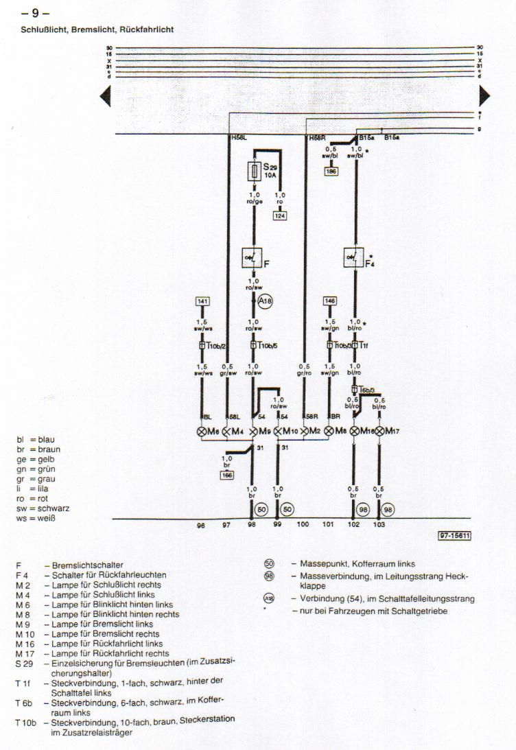 B4  Audi 80  Wiring Diagrams
