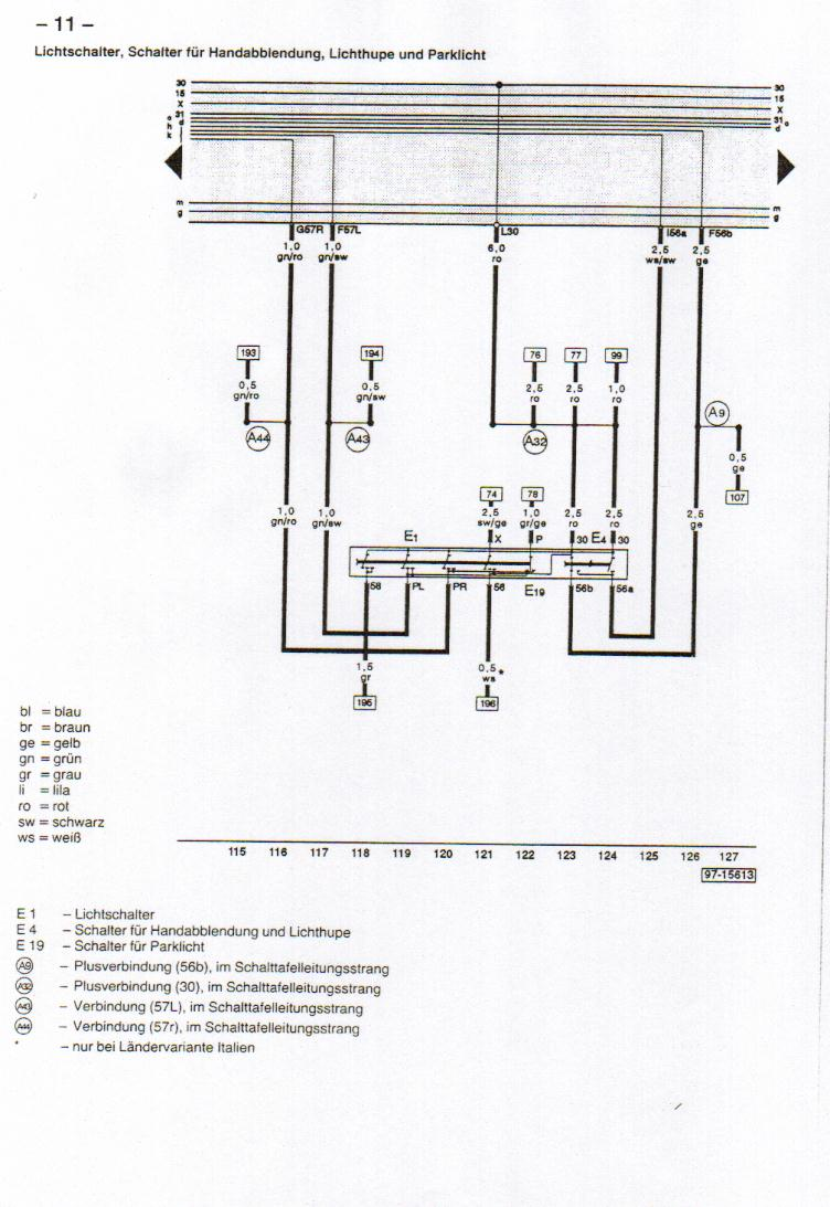 B4 (Audi 80) Wiring Diagrams on