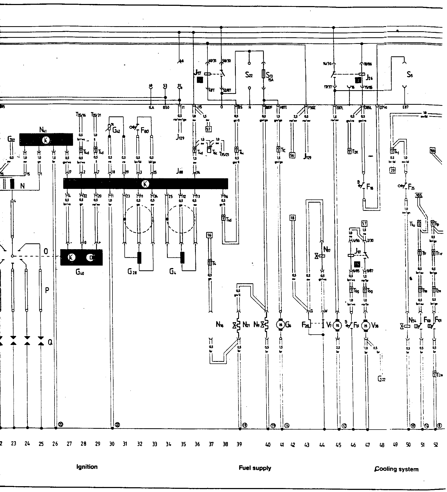 Diagram 17 - Main wiring Diagram Tracks 23-52